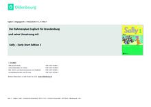 Sally - Stoffverteilungsplan zum Rahmenlehrplan Brandenburg - 1. Schuljahr