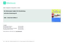 Sally - Stoffverteilungsplan zum Rahmenlehrplan Brandenburg - 2. Schuljahr