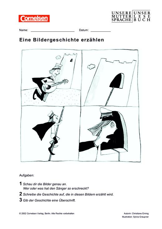 Muttersprache - Eine Bildergeschichte erzählen - Leistungsmessung, Test, Prüfung - zu Lehrwerken - 5./6. Schuljahr