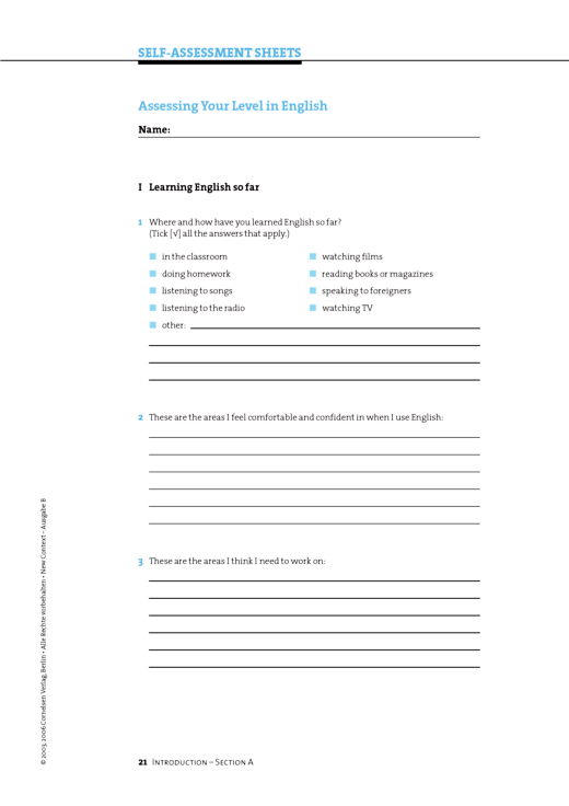 Self-assessment Sheets - Self-assessment-Sheets - Webshop-Download