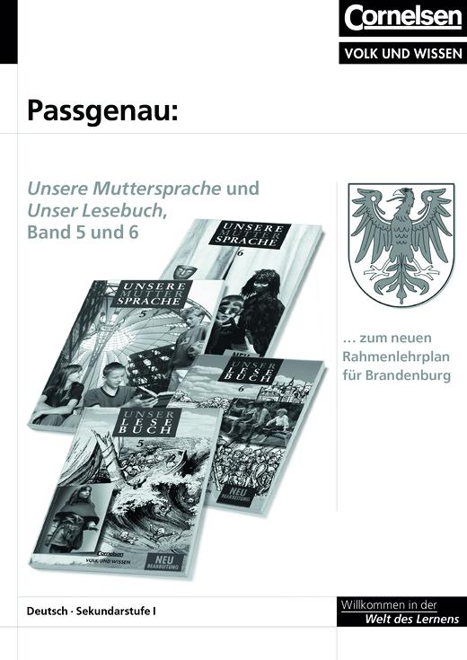 Unsere Muttersprache - Synopse Band 5/6 zum Rahmenlehrplan für Brandenburg - Stoffverteilungsplan - 5. Schuljahr