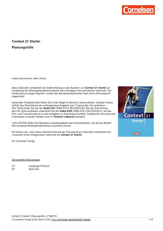 Context 21 - Starter - Planungshilfe Context 21 Starter - Planungshilfe - Webshop-Download