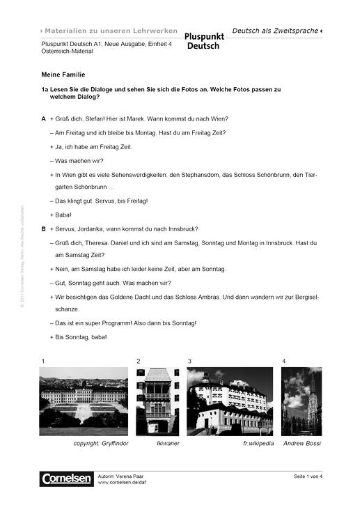 pluspunkt deutsch sterreich band a1 lektion 4 meine familie arbeitsblatt webshop. Black Bedroom Furniture Sets. Home Design Ideas