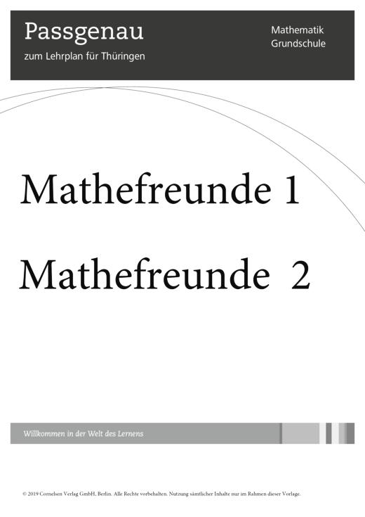 Mathefreunde - Synopse für Thüringen - 1./2. Schuljahr