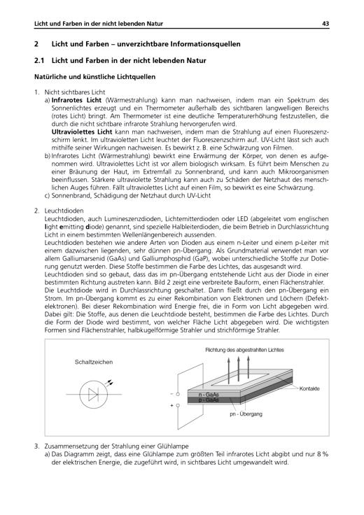 """Licht und Farben – Informationsquellen """"Lösungsheft Naturwissenschaften 4 Natur-Mensch-Technik"""" - Lösungen - Webshop-Download"""