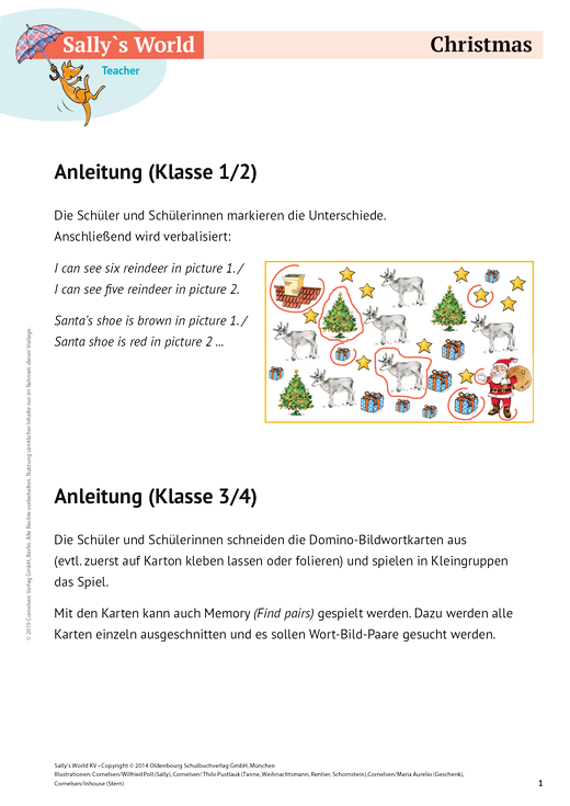 Sally - Christmas - Arbeitsblatt