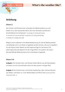 Sally - Weather - Arbeitsblatt