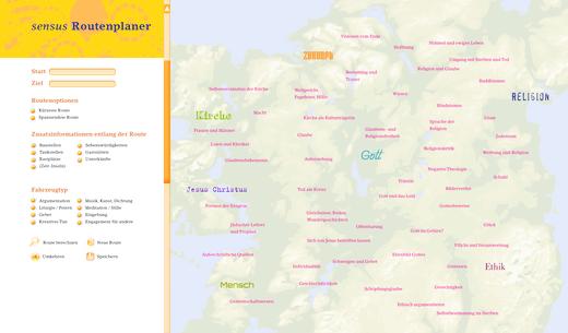 Sensus Religion - Didaktische Landkarte und Routenplaner - Arbeitsblatt - Webshop-Download