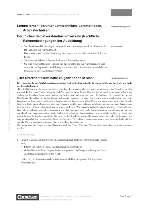 Notfallsanitäter - Notfallsanitäter – Material für den Unterricht - Onlinematerial - Webshop-Download