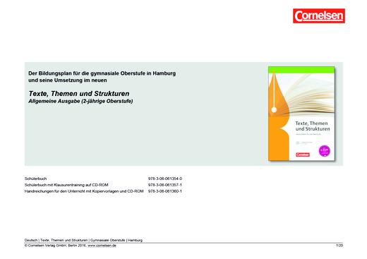 Texte, Themen und Strukturen - Planungshilfe für Hamburg