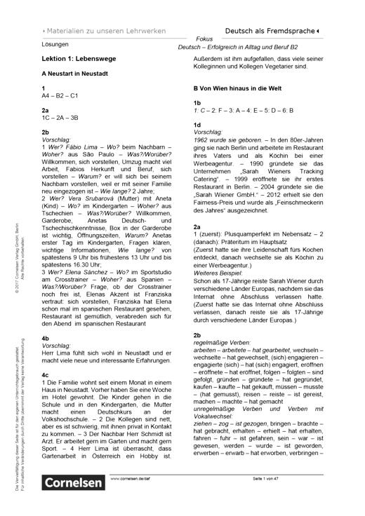 Deutsch Lernen übungen B2 Pdf German Courses