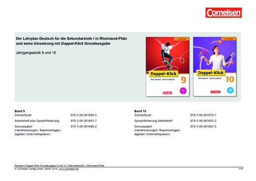 Doppel-Klick - Synopse für Rheinland-Pfalz - 9./10. Schuljahr