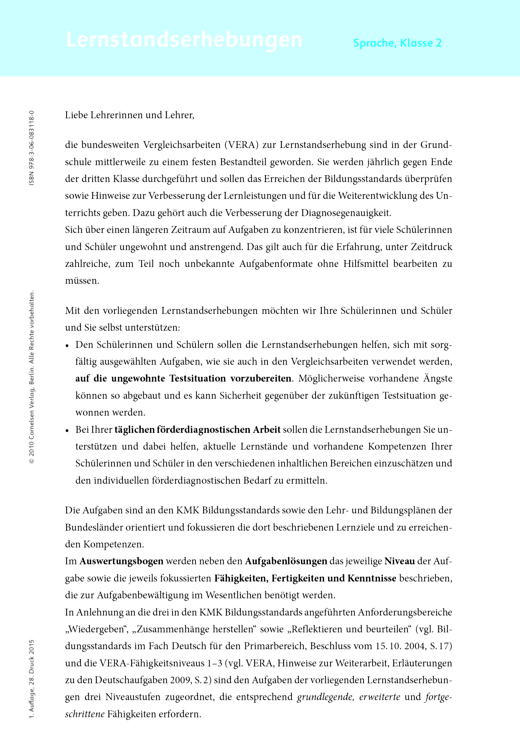 Sprachfreunde - Lernstandserhebungen Sprachfreunde Arbeitshefte Nord 2 - Lernstandserhebung - 2. Schuljahr