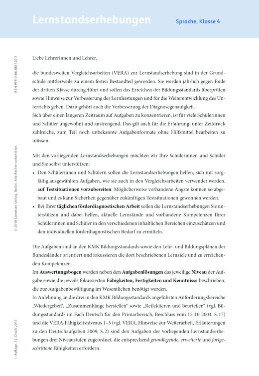 Sprachfreunde - Lernstandserhebungen Sprachfreunde Arbeitshefte Nord 4 - Lernstandserhebung - 4. Schuljahr