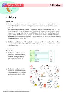 Sally - Adjectives - Arbeitsblatt
