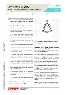 Merry Christmas, everybody! Strange Christmas traditions from all over the world - Arbeitsblatt