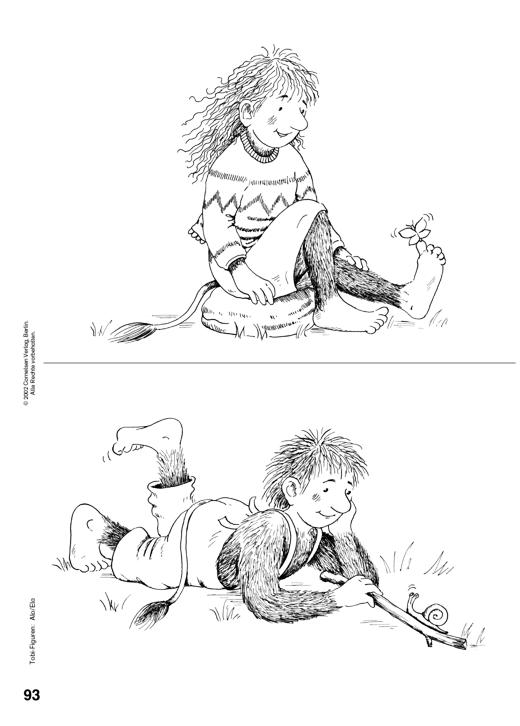 Ausmalbild zur Tobi-Fibel: Alo und Ela - Arbeitsblatt