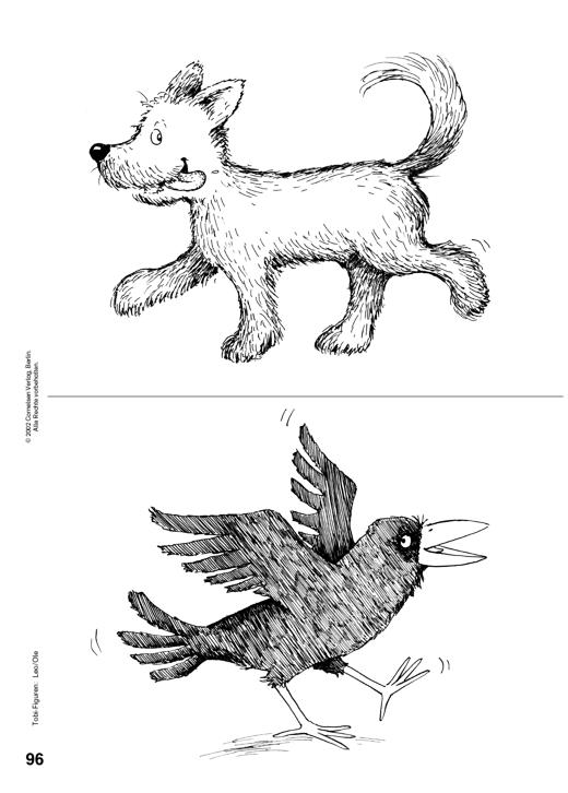 Ausmalbild zur Tobi-Fibel: Leo und Ole - Arbeitsblatt