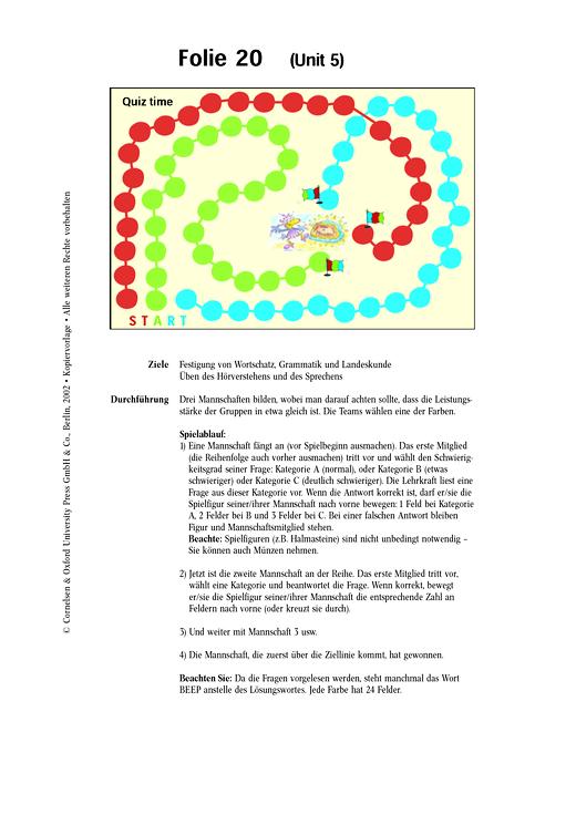 Quiz time - Bildfolie - Spiel - Webshop-Download