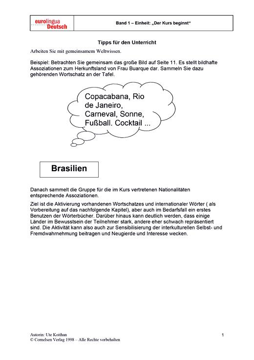 Kennen Sie Brasilien? - Didaktische Fachinfo - Webshop-Download