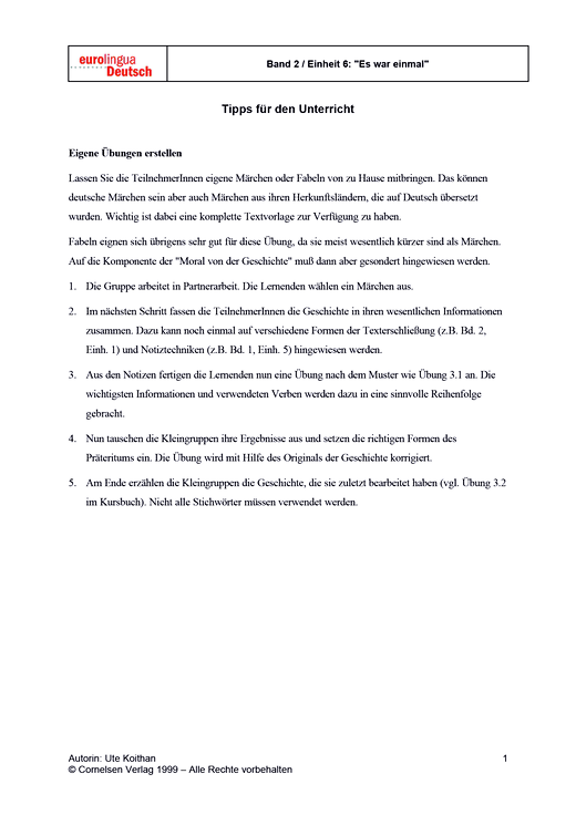 Eigene Übungen erstellen - Didaktische Fachinfo - Webshop-Download