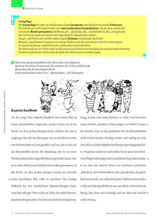 Deutschbuch Gymnasium - Satzgefüge erkennen - Kommata setzen - Arbeitsblatt - 6. Schuljahr