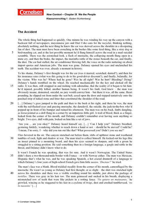 """Klausurvorschlag 1: """"The Tortilla Curtain"""" - Leistungsmessung, Test, Prüfung - zu Lehrwerken - Webshop-Download"""