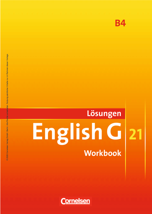 English G 21 - Lösungen zum Workbook als Download - Band 4: 8. Schuljahr