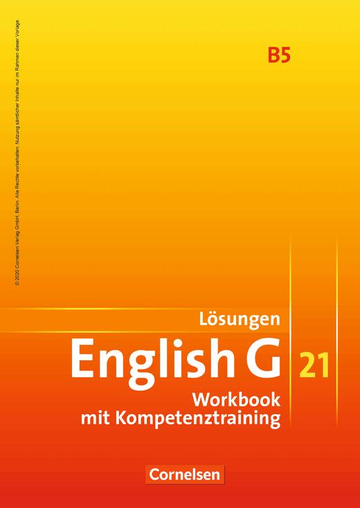 Lösungen zum English G 21-Workbook B5 - Workbook-Material - Webshop-Download