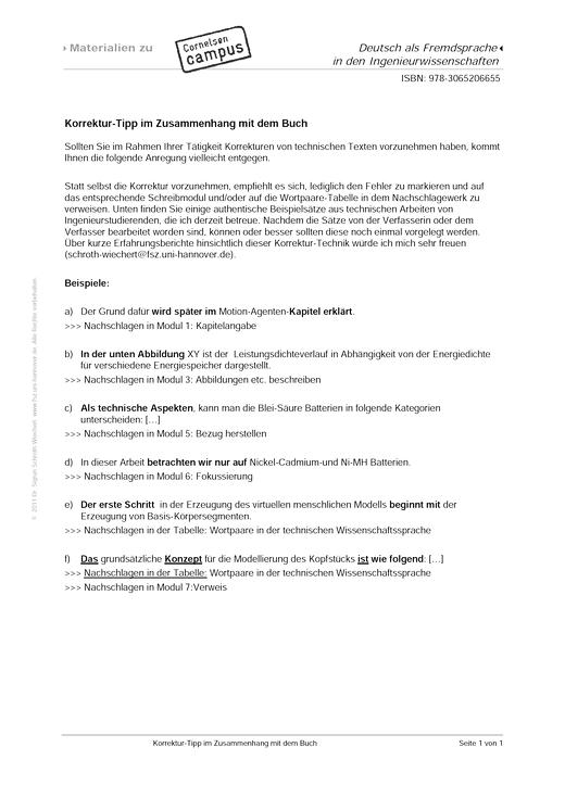 Korrektur-Tipps - Didaktische Fachinfo
