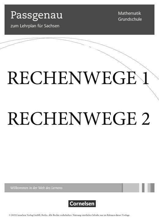 Rechenwege - Synopse für Sachsen - 1./2. Schuljahr
