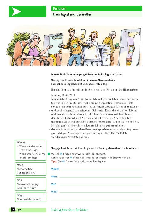 Doppel Klick Training Schreiben Einen Tagesbericht Schreiben Arbeitsblatt Webshop Download
