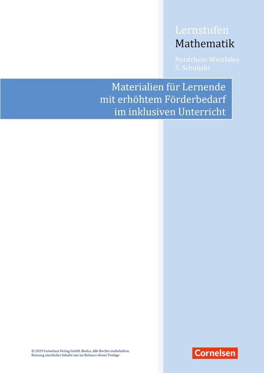 Lernstufen Mathematik - Lernstufen Mathematik NRW 5 - Materialeinsatz für einen inklusiven Unterricht - Synopse - 5. Schuljahr