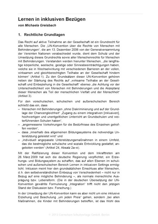"""Doppel-Klick - """"Lernen in inklusiven Bezügen"""" - Didaktische Fachinfo - Webshop-Download"""