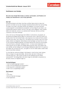 """""""Konfiszieren von Handys"""" - Schulrechtsfall"""