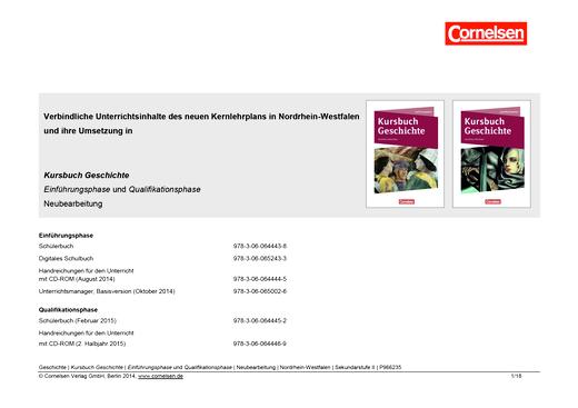 Kursbuch Geschichte - Planungshilfe - Einführungs- und Qualifikationsphase