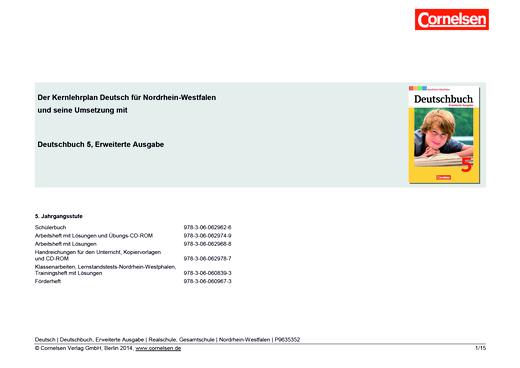 Deutschbuch - Synopse - 5. Schuljahr