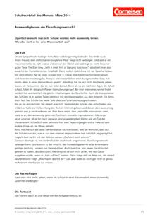 "Schulrechtsfall des Monats (März 2014): ""Auswendiglernen ein Täuschungsversuch?"" - Schulrechtsfall"