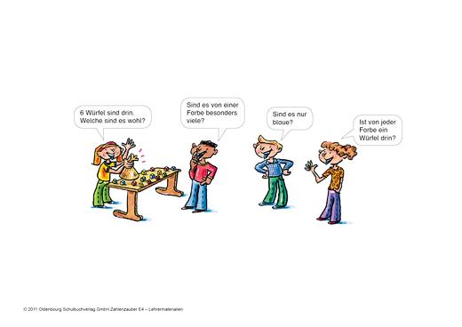 Zahlenzauber - Wahrscheinlichkeit - Präsentationshilfe - 4. Schuljahr