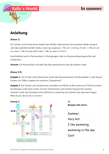 Sally - Summer - Arbeitsblatt