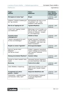 Merkblatt für Eigenrhythmus - Editierbare Kopiervorlage