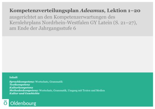 Adeamus! - Synopse Nordrhein-Westfalen Gymnasium