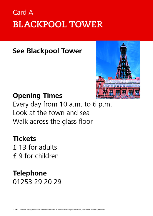 New Highlight - Blackpool tower - Role-play card