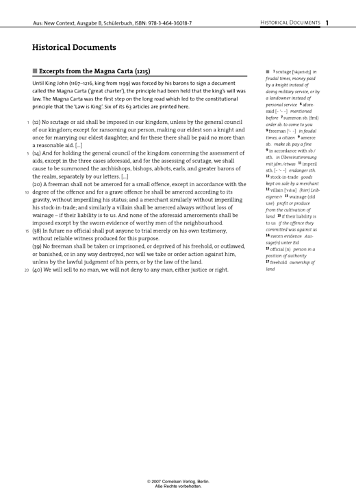 Excerpt from the Magna Carta (1215) - Historical Document - Webshop-Download