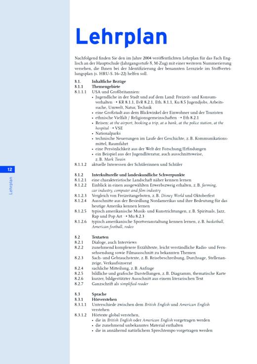 New Highlight - Stoffverteilungsplan für M-Klassen - Band 4: 8. Jahrgangsstufe