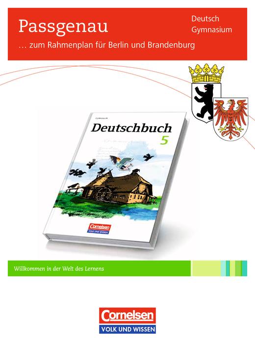 Deutschbuch Gymnasium - Synopse Deutschbuch 5, Berlin und Brandenburg - Synopse - 5. Schuljahr