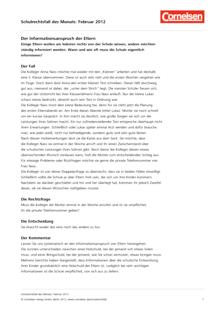 Der Informationsanspruch der Eltern – Fall Februar 2012 - Schulrechtsfall