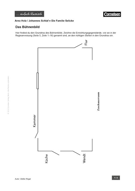 Einfach klassisch - Die Familie Selicke – Das Bühnenbild - Arbeitsblatt