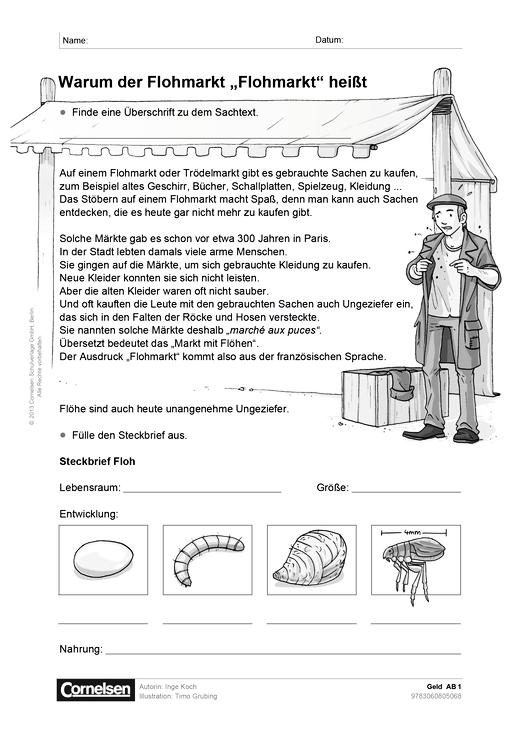 sachunterricht plus grundschule geld arbeitsblatt webshop download cornelsen. Black Bedroom Furniture Sets. Home Design Ideas