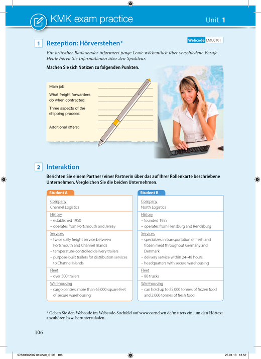 KMK-Materialien  aus Logistic Matters - Aktualisierung